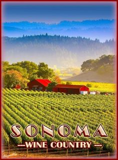 Sonoma-California-Wine-Country-United-States-Travel-Advertisement-Poster