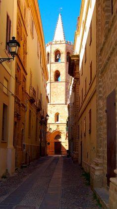 Via Principe Umberto - Alghero, Sassari Sardinia Italy