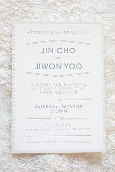 clean & simple invitation