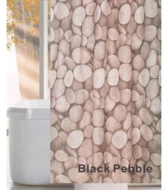 Linenwalas Black Pebble Design Water Repellent Bathroom S… Bathroom Essentials, Bathroom Shower Curtains, Water, Black, Design, Home Decor, Gripe Water, Decoration Home, Black People