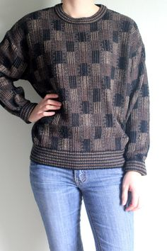 Vintage Checkered Sweater  Ugly Sweater  by InfinityAmpersand