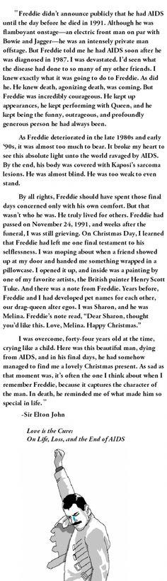 Elton John on Freddie Mercury