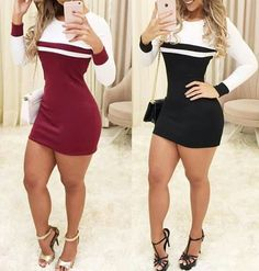 Swans Style is the top online fashion store for women. Shop sexy club dresses, jeans, shoes, bodysuits, skirts and more. Tight Dresses, Sexy Dresses, Beautiful Dresses, Short Dresses, Fashion Dresses, Hot Dress, Dress Skirt, Bodycon Dress, Sexy Outfits