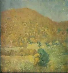 """Landscape, Orange Mountain,"" Emil Carlsen, oil on canvas, 34.3 x 38"", private collection."