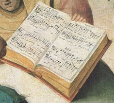 In partitura (libro corale) ai tempi di Hieronymus Bosch Hieronymus Bosch, Gerard David, Renaissance Music, Pieter Bruegel The Elder, Map Painting, Garden Of Earthly Delights, Sea Art, Medieval Art, 15th Century