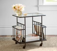 Updating your living room? Shop Pottery Barn for modern and classic living room ideas. Find living room furniture and decor and create the ultimate space. Marble End Tables, Wood End Tables, Side Tables, Coffee Tables, Pottery Barn, Metal Cart, Rolling Kitchen Island, My Living Room, Living Spaces