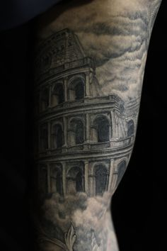 colosseum (colosseo ) inner arm tattoo.