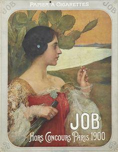 Edgard Maxence (1871-1954), Calendrier Job (Papier à Cigarettes) - 1903