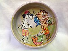 Pet Bowl 8 Dog Bowl for Food or Water Personalized at no Charge Signed by Artist Debby Carman * Details can be found by clicking on the image.