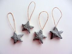mini stars set of 4 / hanging ornament / by CarriageOakCottage