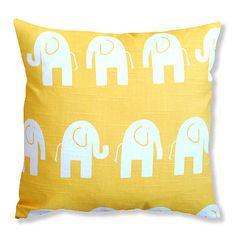 Yellow Elephant Cushion