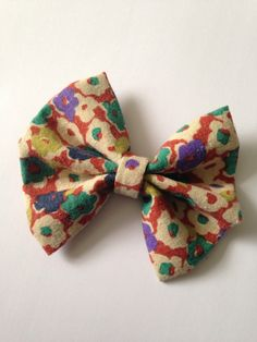 Rusty Coloured Floral HeadBow on Cappuccino Coloured Elastic by AvasAccessories1 on Etsy