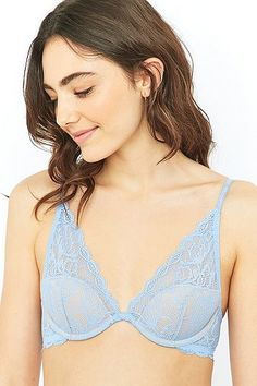 Calvin Klein Seductive Comfort Blue Lace Underwire Bra