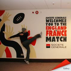FicklestiX surface graphics. The 6 Nations England Vs France rugby match at Twickenham.