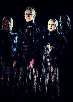 The Cenobites from Hellraiser. When demons used to look like metal bands.