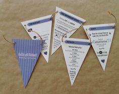 Bunting Wedding Invitation - Sample only