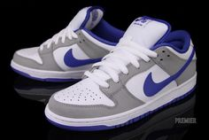 on sale 1e43b 09907 Nike SB Dunk Low Pro - Matte Silver   Varsity Royal   White
