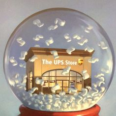 The UPS Store snow globe #NotABox #UPSHappy