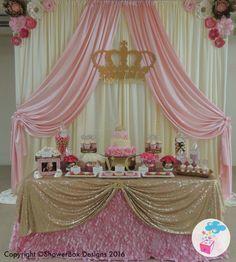 Princess Theme Baby Shower ShowerBox Events Like us on FB #myshowerbox www.myshowerbox.com