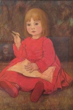 Portrait de Sylvie assise (1899) by Georges Lacombe (French 1868-1916)