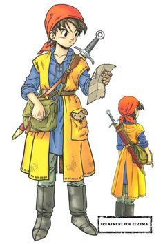 Dragon Quest VII hero by Akira Toriyama Character Design References, Game Character, Character Concept, Character Sheet, Character Reference, Akira, Dragon Warrior, Comic Manga, Manga Anime
