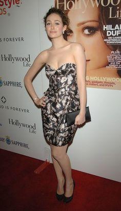 Emmy Rossum Strapless Dress