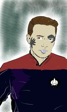 Twitter / ickle_tayto: Here's my #colourmebadd @wilw attempt.. He is Wesley of Borg..
