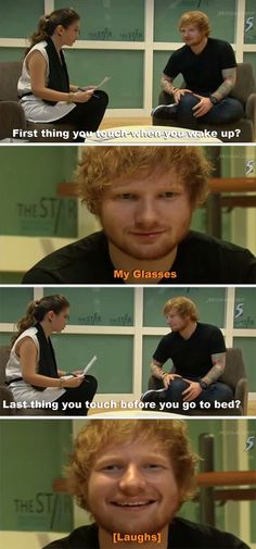 Haha :'D.. his glasses?:'D