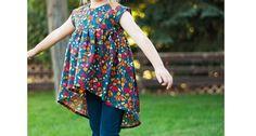 Free pattern: Modern Baby Doll Top for little girls Sz 5/6