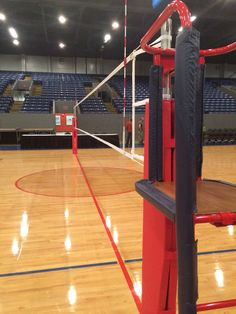 Our equipment at the Michigan Volleyball High School Championship