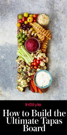 Few things are more low-maintenance than a tapas board, a selection of light snacks or appetizers arranged on a platter. But it's not as simple as just throwing a bunch of stuff on a piece of wood. Thanks to health guru and #fitspo queen Lorna Jane Clarkson, we now know the art of assembling the perfect one.