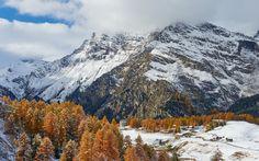 Passo Del Maloja Montanas Alpes Suizos