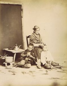 Sommer, Giorgio; Picking Lice,  ca 1880