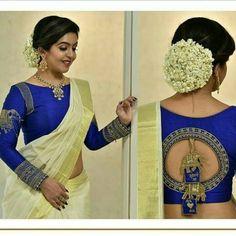 Blouse Back Neck Design Wedding Saree Blouse Designs, Pattu Saree Blouse Designs, Saree Blouse Patterns, Fancy Blouse Designs, Designer Blouse Patterns, Lehenga Blouse, Wedding Saree Collection, Stylish Blouse Design, Blouse Models