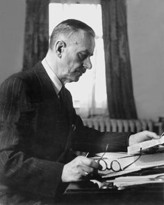 """Thomas Mann (1875-1955), German novelist, short story writer, social critic, philanthropist and essayist. """"principally for his great novel, Buddenbrooks, which has won steadily increased recognition as one of the classic works of contemporary literature"""""""