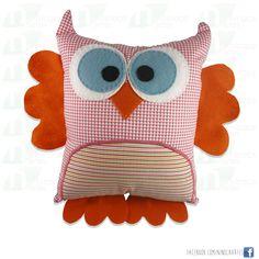 Almofada Toy Art - Corujinha  www.ninocaartes.com.br