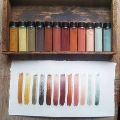 It's fascinating to me how people can focus, specialize in, and love a tiny narrow niche and make it their life's work. Homemade Paint, Earth Pigments, Organic Art, Nature Paintings, Face Paintings, Color Stories, Color Theory, Art Techniques, Shibori