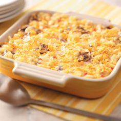 tuna casserole - wish I could make this, hubby wouldnt touch with a ten foot pole tho :(