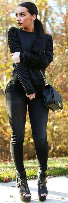 Pinterest: @iamuniquesoul Instagram: @iamuniquesoul Ecstasy Models — All Black The Fashion Bybel