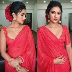 Arthi Krishna I ஆர்த்தி (@arthiarchie) • Instagram photos and videos Red Saree, Saree Blouse, Sari, Wedding Makeover, Bridal Henna Designs, Minimal Look, Saree Trends, Beautiful Saree, Beautiful Women
