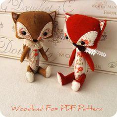 Woodland Fox PDF Pattern por Gingermelon en Etsy