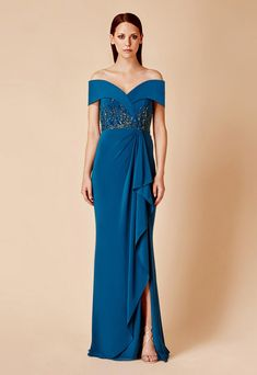Daymor Couture 673 Alexander by Daymor Social Occasion dress. Contact us to confirm size an Mother Of The Bride Trouser Suits, Mother Of The Bride Gown, Mother Of Groom Dresses, Mom Dress, Dress Out, Best Prom Dresses, Modest Dresses, Sexy Evening Dress, Evening Dresses