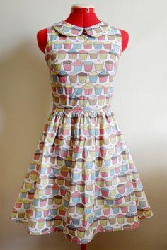 Adorable Cupcake Dress with peter pan collar $150 (I'm making dresses now!)