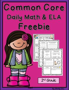 Common Core math and ELA for second grade freebie--great for morning work or homework for 2nd grade