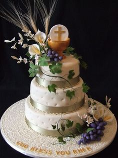 cake top first communion chalice third - Pesquisa Google