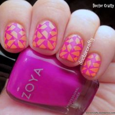 Stamping with Zoya Charisma over Essie Tart Deco: a recreation of my first stamping mani!