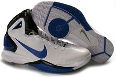 Air Foamposite Nike Hyperdunk 2010 Playoff Exclusive [Nike Hyperdunk 2010 - Nike gave Dirk Nowitzki new Nike Hyperdunk 2010 Playoff Exclusive shoes for the Playoffs. The shoes are quite fascinating with their blue hits. Dirk 42 can be seen on the tongu Buy Nike Shoes, Discount Nike Shoes, Air Max Sneakers, Sneakers Nike, Black Leather Shoes, Black Shoes, Nike Air Max, Free Shipping, Nike Foamposite