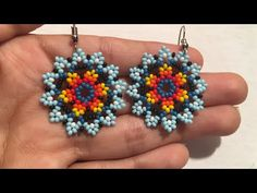 Beaded Jewelry Patterns, Beading Patterns, Bead Earrings, Crochet Earrings, Beard Jewelry, Hand Work Embroidery, Native American Beadwork, Beading Tutorials, Beaded Flowers