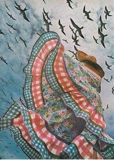 Apollonia von Ravenstein by Norman Parkinson _ Vogue UK, December vintage fashion floral gingham blue red pink peasant farm girl boho hat Creative Portraits, Creative Photography, Portrait Photography, Fashion Photography, Vogue Uk, Norman, Floral Backdrop, Jolie Photo, Aesthetic Pictures
