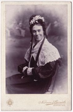 "ca. 1892, [Portrait of W.S. Penley as ""Dona Lucia from Brazil"" in ""Charley's Aunt""],  Norman and Burnide"